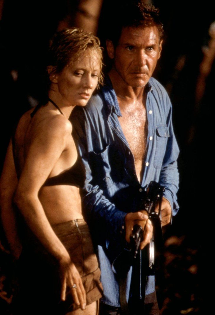 Pin for Later: The Ultimate Bikini Movie Gallery Anne Heche, Six Days Seven Nights How do you turn tension into sexual tension? Two words: Black. Bikini.