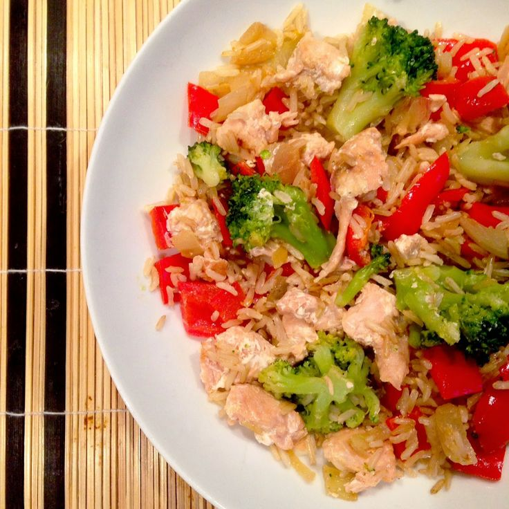 Healthy Living in Heels: Fried Coconut Rice with Salmon