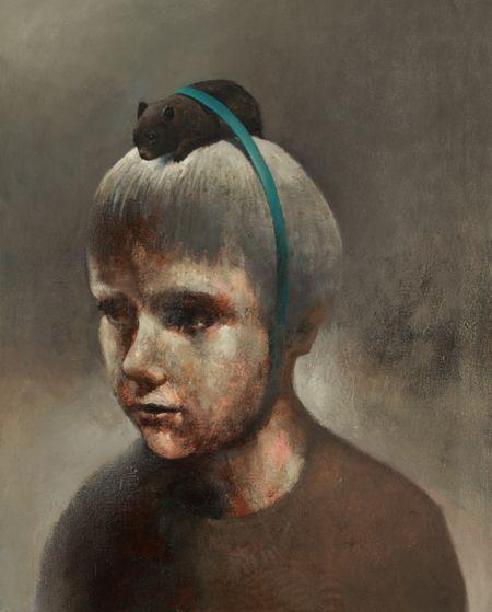 Visual artist Samuli Heimonen GIFTED. Acrylic and oil on canvas. 2011