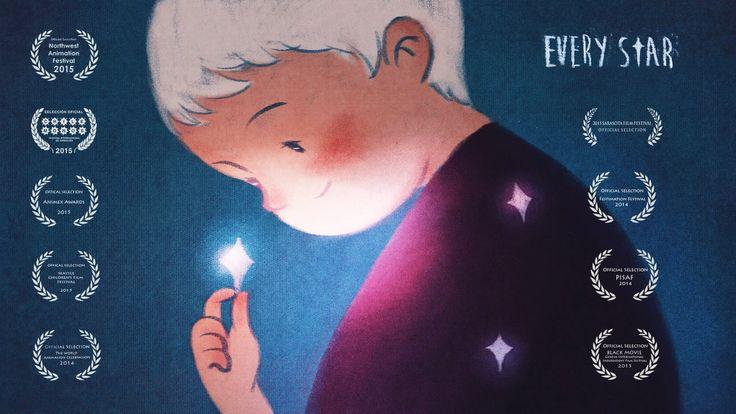 « Every Star » est un magnifique court-métrage d'animation réalisé par la talentueuse Yawen Zheng. Un mystérieux petit garçon (aux faux airs de Petit Prince) récolte des étoiles pour les envoyer à des enfants qui vivent dans des villes grises et monotones. Il éclaire ainsi leur coeur.