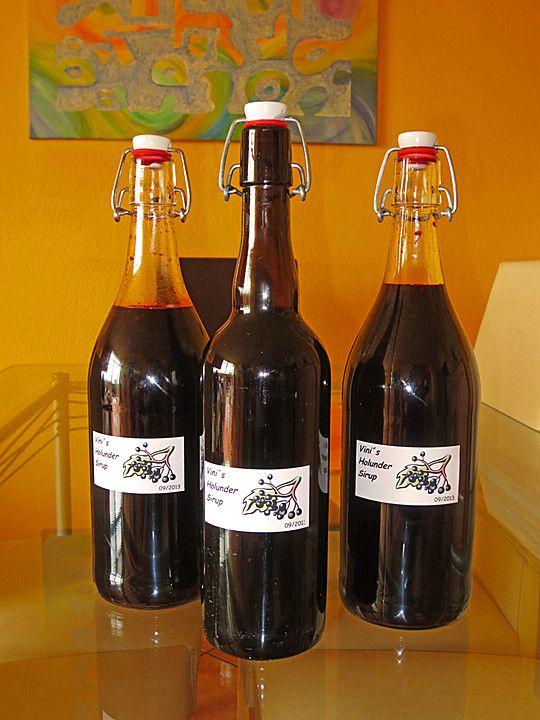 Holunderbeerensirup, ein sehr schönes Rezept aus der Kategorie Getränke. Bewertungen: 8. Durchschnitt: Ø 4,4.