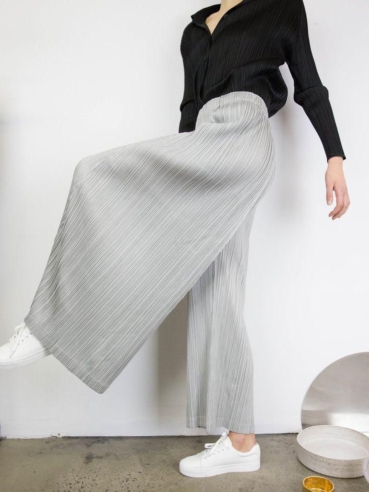 PLEATS PLEASE ISSEY MIYAKE Thicker Bottoms 1 Wide Pants
