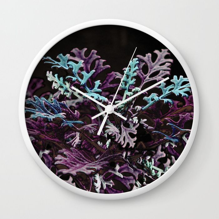 Buy Floral abstract (purple) Wall Clock by maryberg. Worldwide shipping available at Society6.com. Just one of millions of high quality products available.