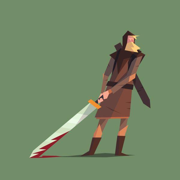 Lady of the sword by Ariel Belinco, via Behance