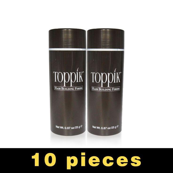 10pcs/lot 25g Toppik Hair Fibers Building Fiber Loss regrow Styling Color Powder Extension Keratin Thinning Spray Applicator