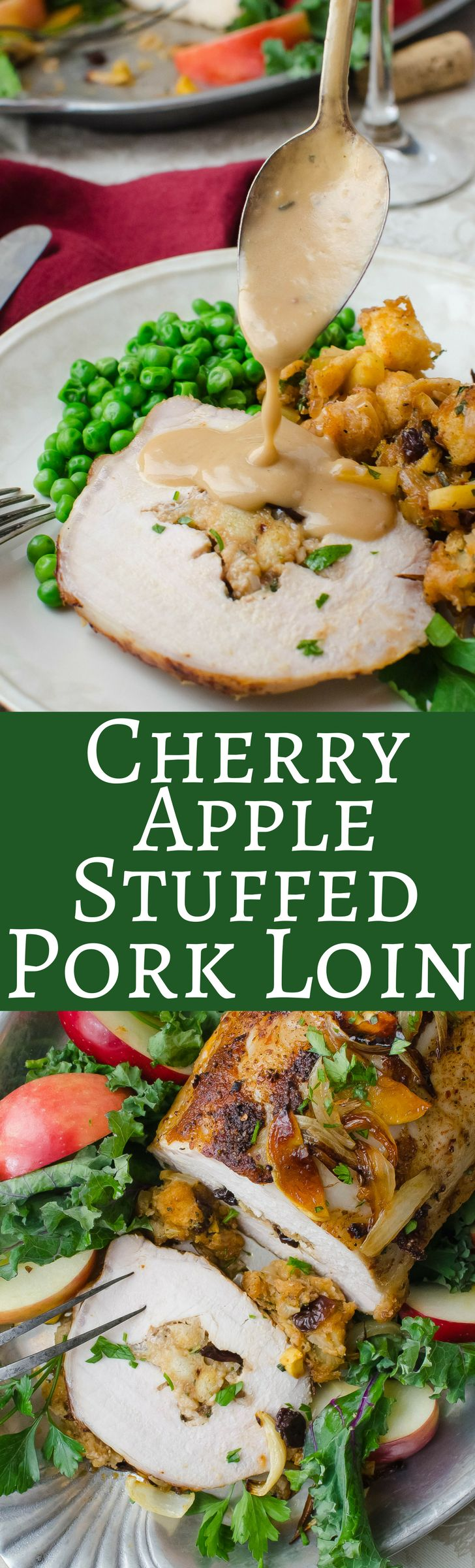 Cherry Apple Stuffed Pork Loin