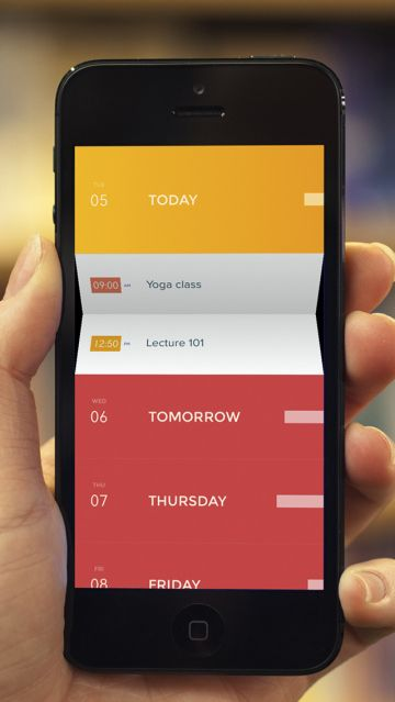 I love this kind of Interface and interaction Desing: Peek Is A Playful Calendar App, From An Ex-IDEO Designer, For People Who Aren't Forever Busy | TechCrunch