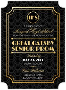Glitzy Gatsby Prom Invitation