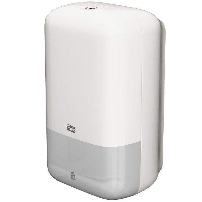 Dispenser hartie igienica Tork, capacitate de a reduce consumul, recomandat pentru hoteluri, restaurante si birouri mici.