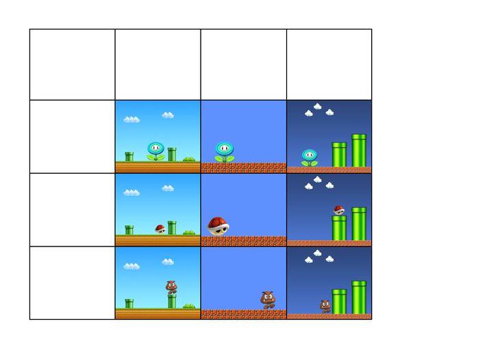 Tiles for the Mario matrix game. Find the belonging board on Autismespektrum on Pinterest. By Autismespektrum