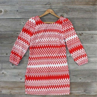 Shared Spirits Dress in Red...: Spirits Dress, Dresses Boots, Cute Dresses, Clothing, 52 Shared, Closet, Game Day Dresses, Shared Spirits, Chevron Dress