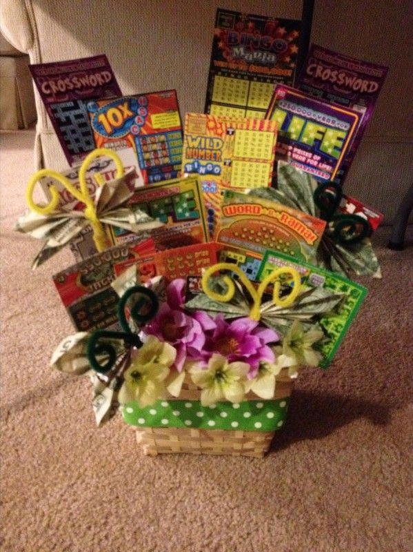 Gift Basket of scratch offs.