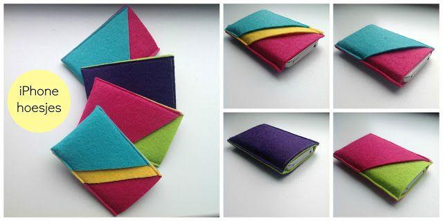 iPhone of iPod hoesjes Zelf leuke mobielhoesjes maken van vilt? Kijk voor vilt eens op http://www.bijviltenzo.nl