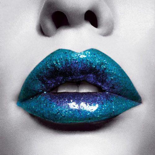 Icy Sparkle: Fashion Places, Blue Lips, Fashion Week, Lips Wwwloveitsomuchcom, Glitter Lips, Sexy Lips, Crazy Lipsticks, Lips Colors, Lips Art
