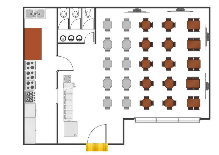 18 best building plans cafe and restaurant plans images for Restaurant builder software