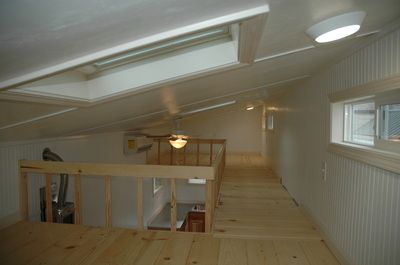 Two Lofts Connected By Catwalk Tiny House Photos Tiny