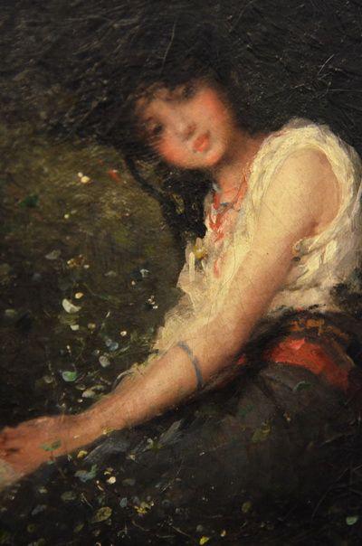 "Nicolae Grigorescu, ""Portrait of a Girl"""