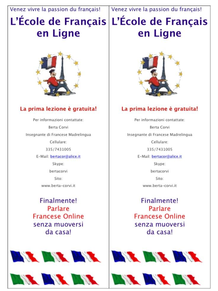 French lessons via Skype with a mother tongue teacher - lezioni di francese online con un'insegnante madrelingua e altamente qualificata