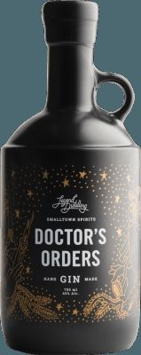 Legend Distilling Doctor's Orders Gin. 40 % ABV. Contemporary. Locally foraged juniper berries, coriander and citrus mingle with a unique line up of Okanagan flavours – lavender, elderberry, mint and apple.