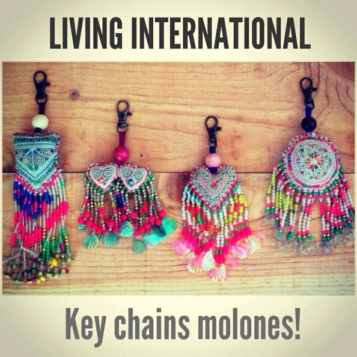 Ethnic key chains... Cute & trendy!