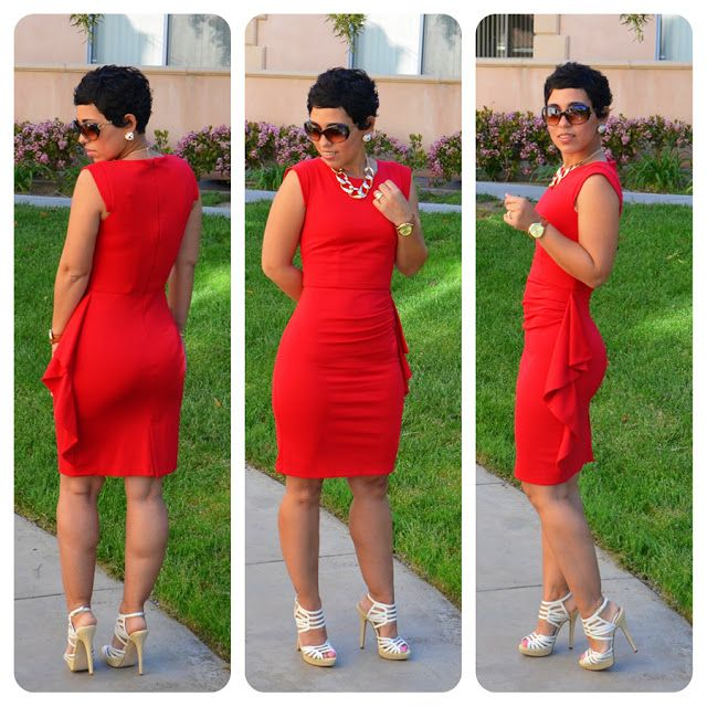DIY Red Dress & Aldo Heels + One Pattern = Three Dresses