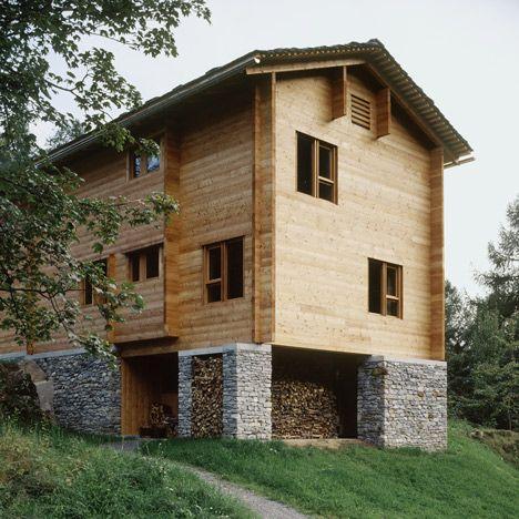 Architettura alpina architettura case di legno e case for Architettura case