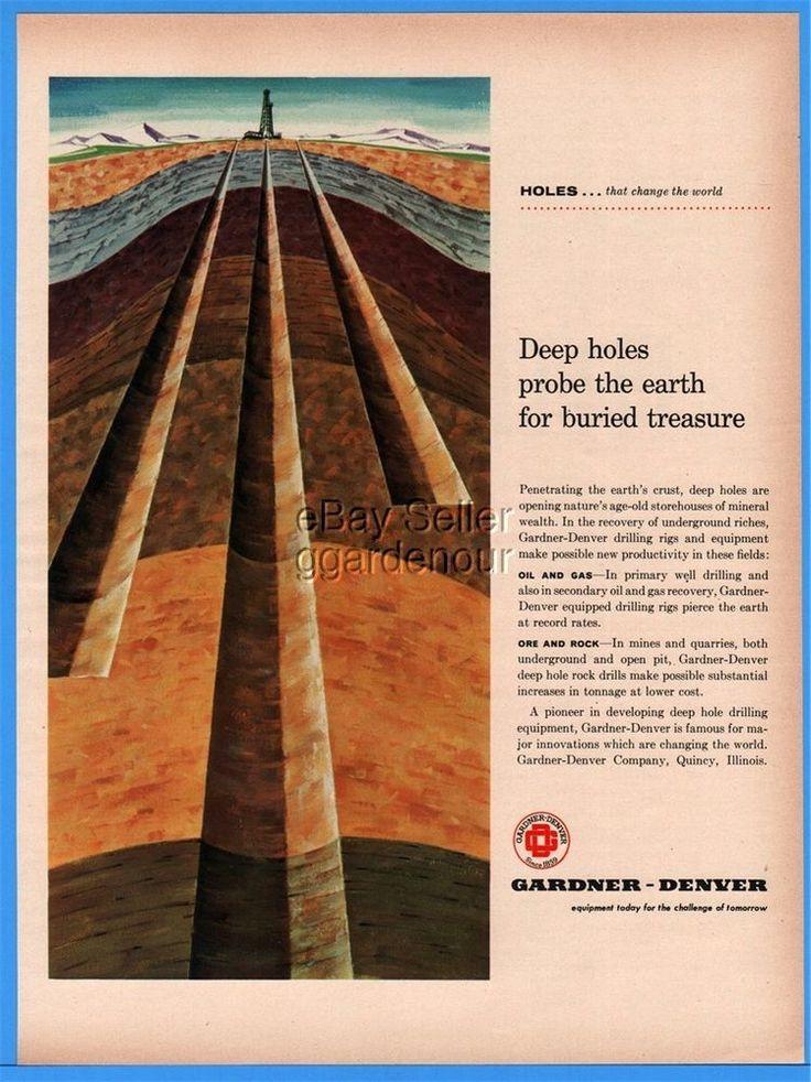 1960 Gardner Denver Quincy IL Deep Holes Probe Earth Oil