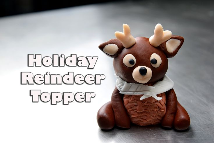 Fondant Reindeer Cake Topper Directions