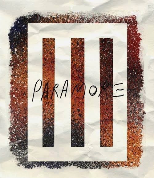 PARAMORE. the three bars stand for Them, and the white around them stands for the fans and everyone who works with the band. :)