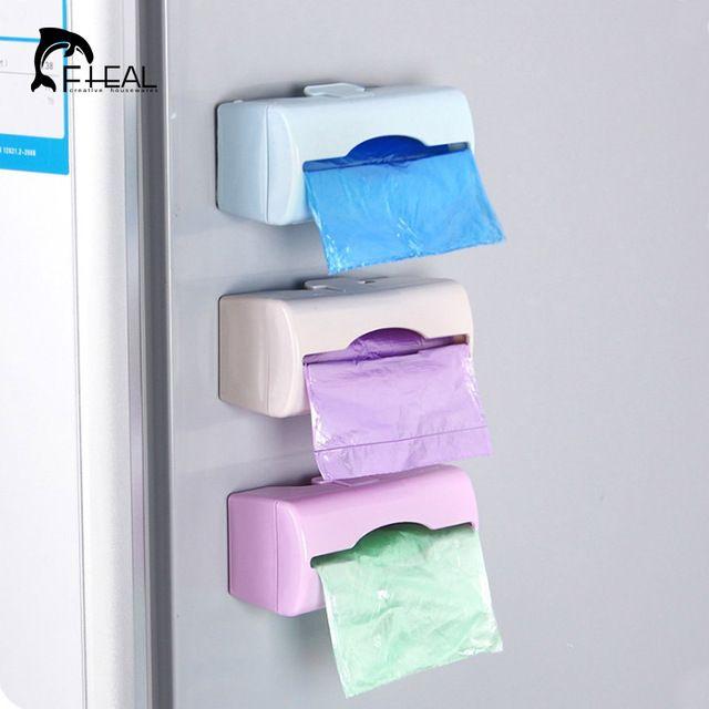 FHEAL Красочный настенный Мешок Для Мусора Хранения Box Контейнер многоцелевой Кухня ванная комната Организации Хранения Пластиковый Лоток