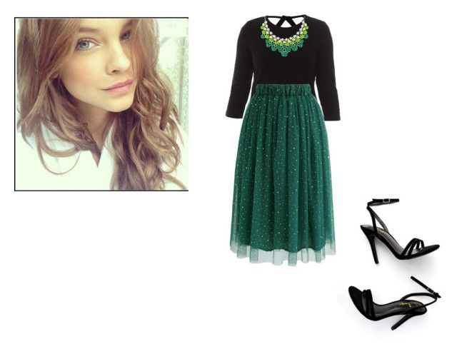 """""""Spring outfit"""" by leah-baritone ❤ liked on Polyvore featuring Chicwish, LULUS, outfit, skirt, GREEN and contestentry"""