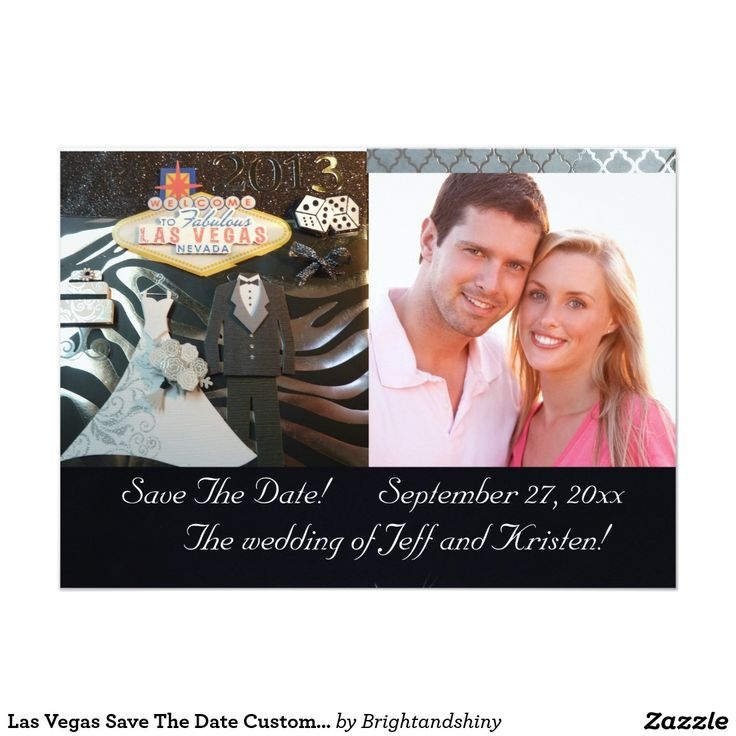 Las Vegas Save The Date Custom Invitation