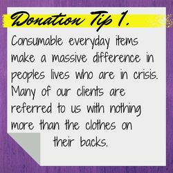 Donation information.