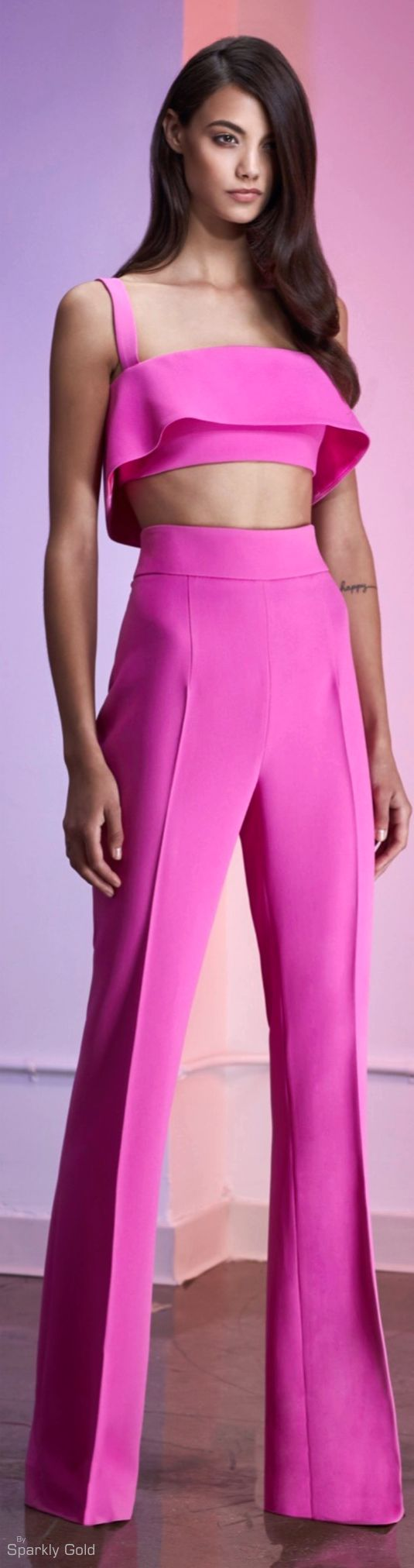 Cushnie et Ochs Resort 2016 pink jumpsuit women fashion outfit clothing style apparel @roressclothes closet ideas
