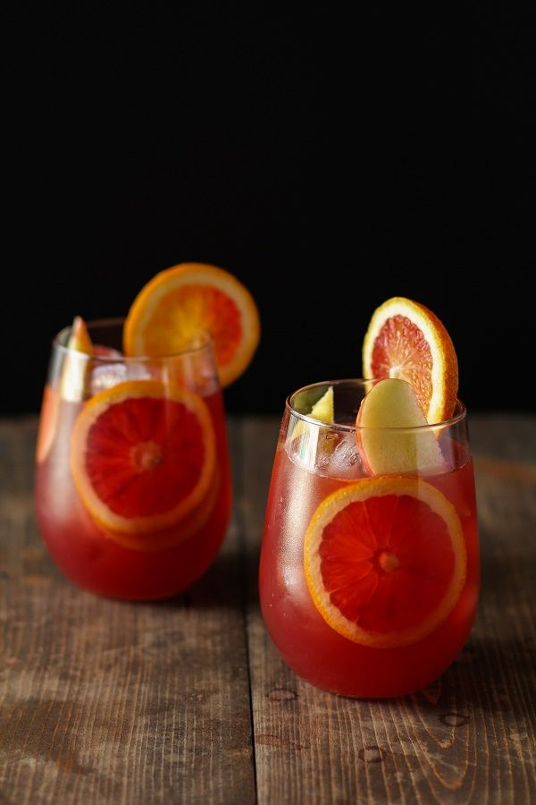Winter Sangria with Pomegranate, Blood Oranges, and Apples | theroastedroot.net #cocktail #wine #recipe @roastedroot