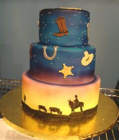 302 best Cakes CowboyCowgirl images on Pinterest Cowboy cakes