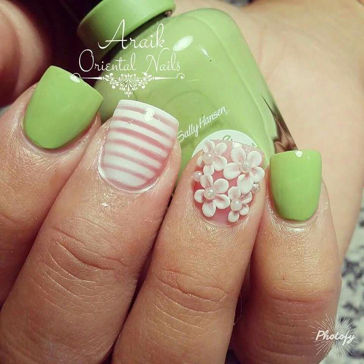 Mejores 528 imágenes de uñas de flores en Pinterest   Uñas de flores ...