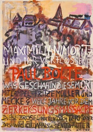 "Saatchi Art Artist Ahmed Borai; Painting, ""Witwe Bolte - Newspaper Art Novel - #03"" #art"