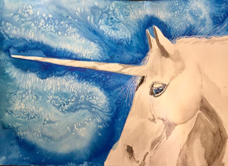 Mystical Unicorn #art #watercolour #unicorn