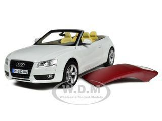 diecastmodelswholesale - 2009 Audi A5 Convertible White 1/18 Diecast Car Model by Norev, $74.99 (http://www.diecastmodelswholesale.com/2009-audi-a5-convertible-white-1-18-diecast-car-model-by-norev/)