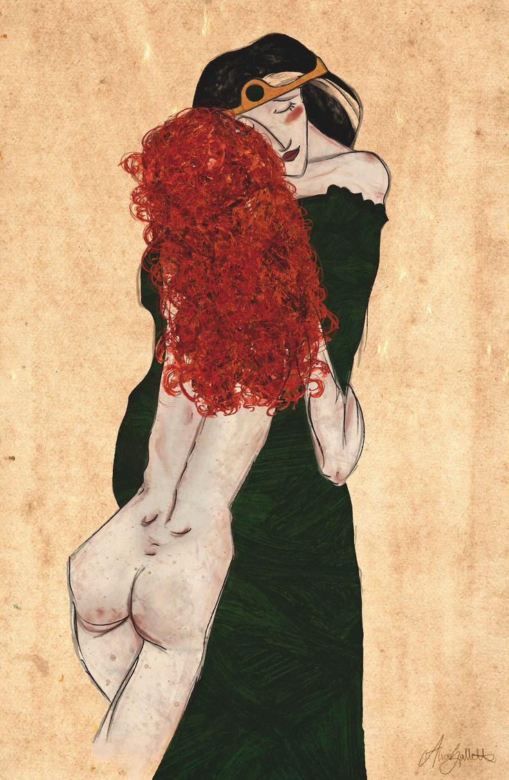 "Disney Schiele ""Mother and Daughter"" THE BRAVE http://www.quadri-e-stampe.it/media/images/popup/egon-schiele-mutter-und-tochter-08866.jpg"