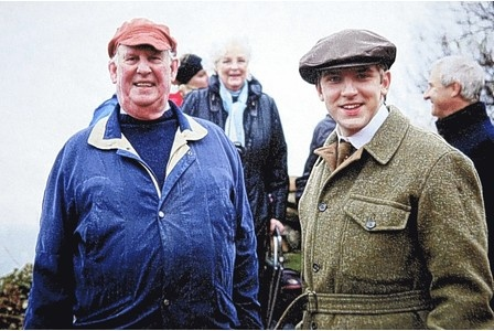 David Evans - son of Gilbert Evans - with actor Dan Stevens (playing Gilbert Evans) on the set of a new film, Summer in February, based on a tragic romance in a Cornish artists colony