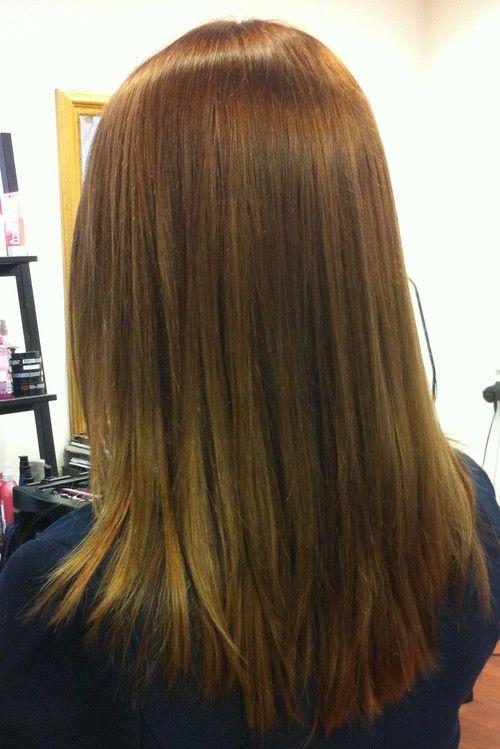 Ruskeat suklaan väriset pitkät ja paksut hiukset balayage...