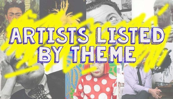 Great long list of artists listed by themes.  Great resource for art teachers.