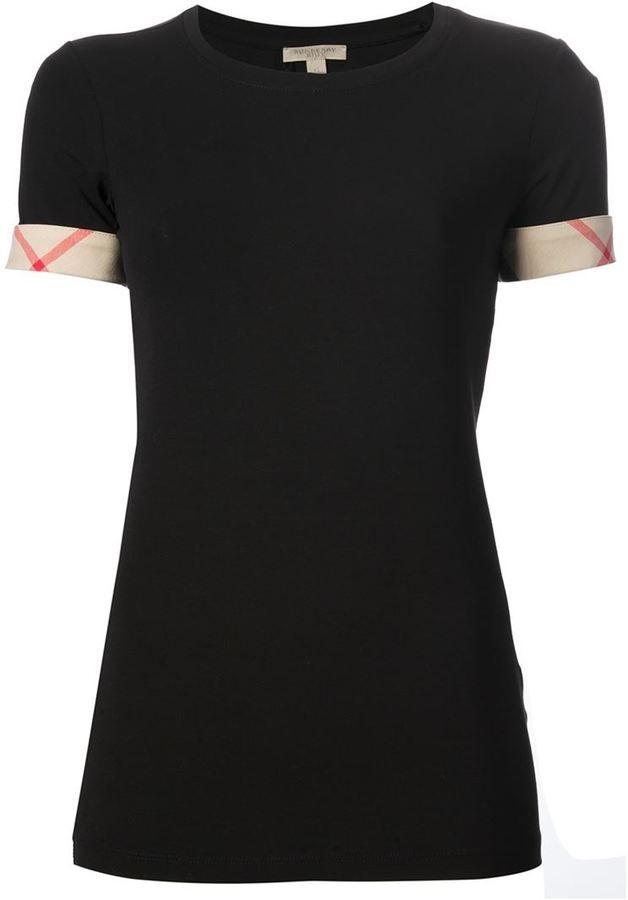Burberry Brit 'House Check' cuffs T-shirt