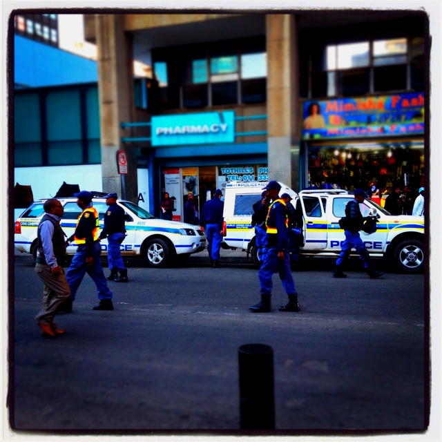 Police outside SGHC for #ZumaSpear case