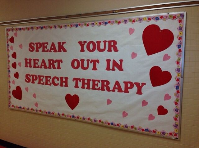 Classroom Decoration Bulletin Boards ~ February speech bulletin board msaleks therapy
