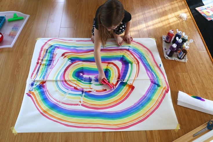 Make GIANT Rainbows in a Single Swipe Using this Easy DIY Rainbow Painter | Mama.Papa.Bubba.