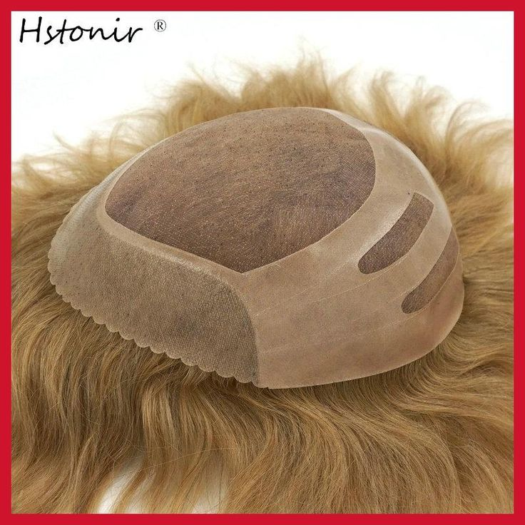 Hstonir 6 pcs/lot Aplique De Cabelo Humano Bisone De Hombre Capelli Umani Uomo Cravatta Cuoio Men Closure Crece Pelo H033