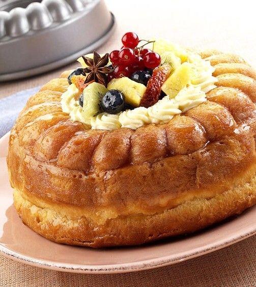 Μεθυσμένη τούρτα μπαμπά με φρούτα εποχής - Συνταγή  i-Food.gr by Giorgio Spanakis